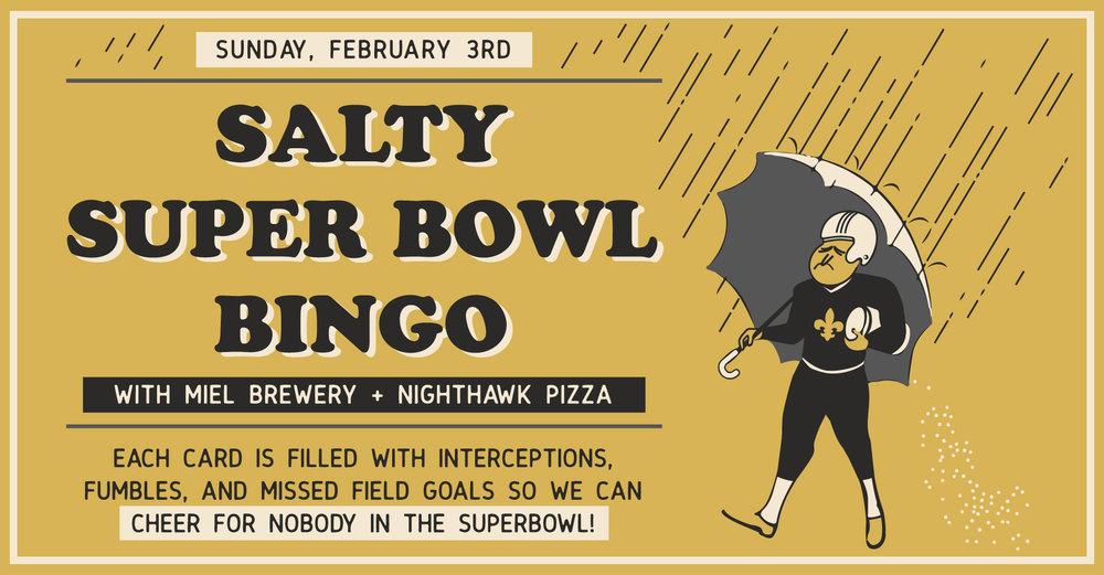 Miel Brewery_New Orleans_Superbowl Bingo_Nighthawk Pizza