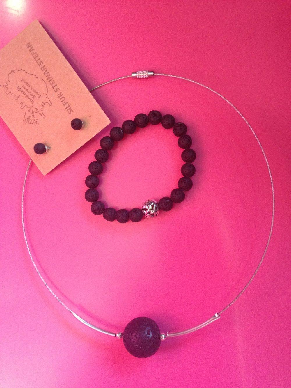 Necklace- $19, bracelet- $19, earrings- $8.
