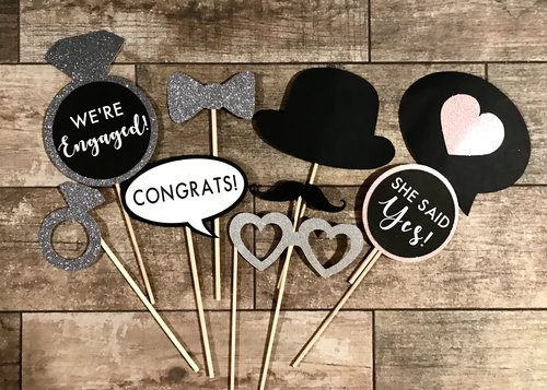 Housewarming Engagement Party Photo Props
