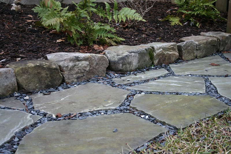 Thick Flagstone Installation