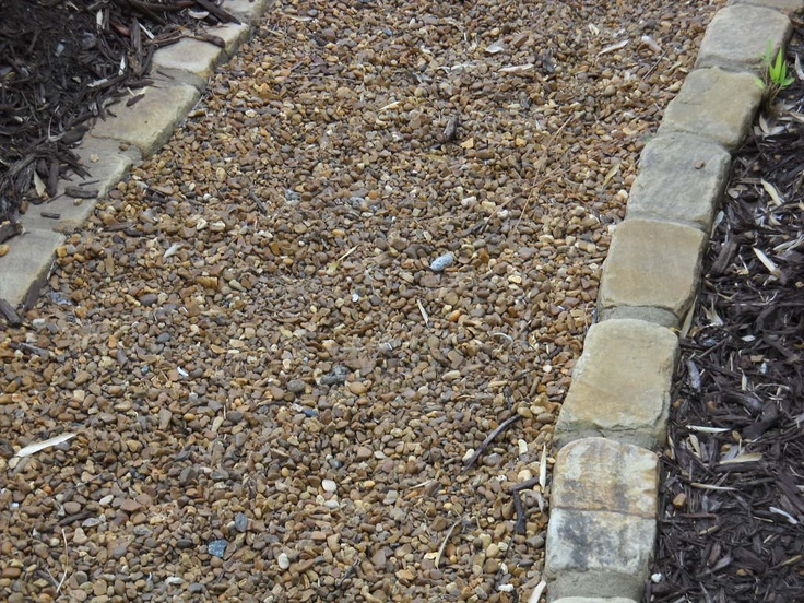 Tumbled Cobbles Edging Installation