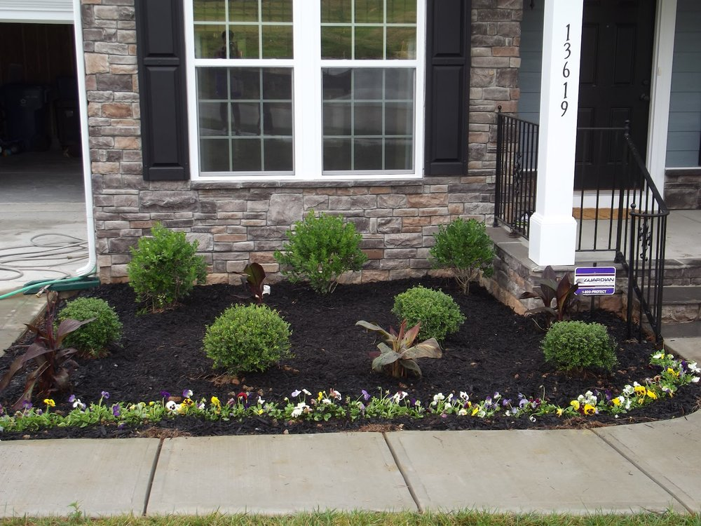 Black Mulch Installation