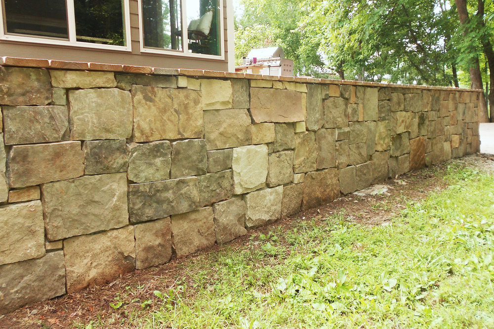 Ashlar Fieldstone Wall Installation