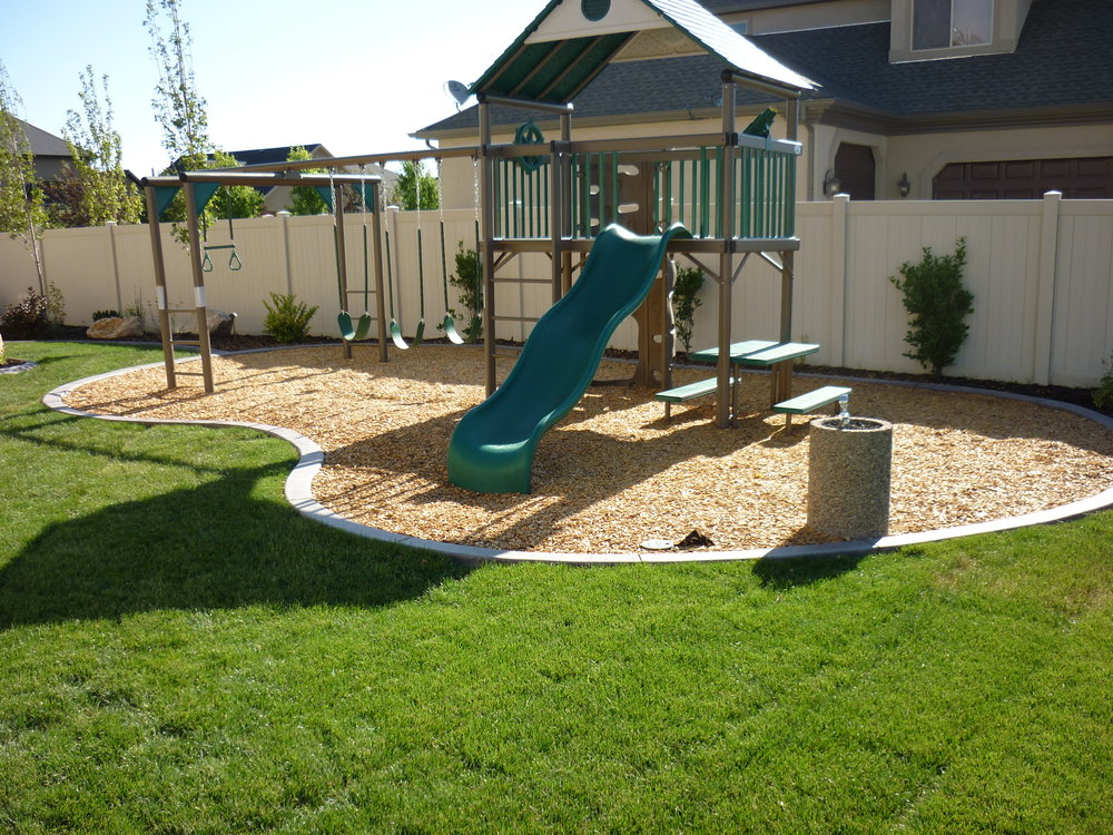 Kid Safe Mulch Installation