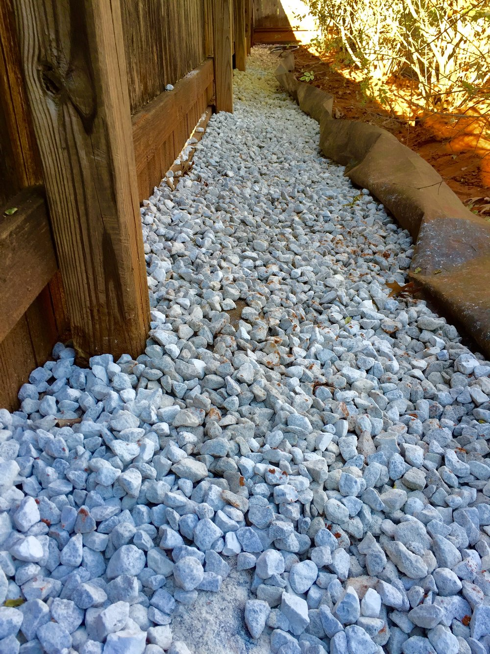 #57 Crushed Stone Drainage Installation