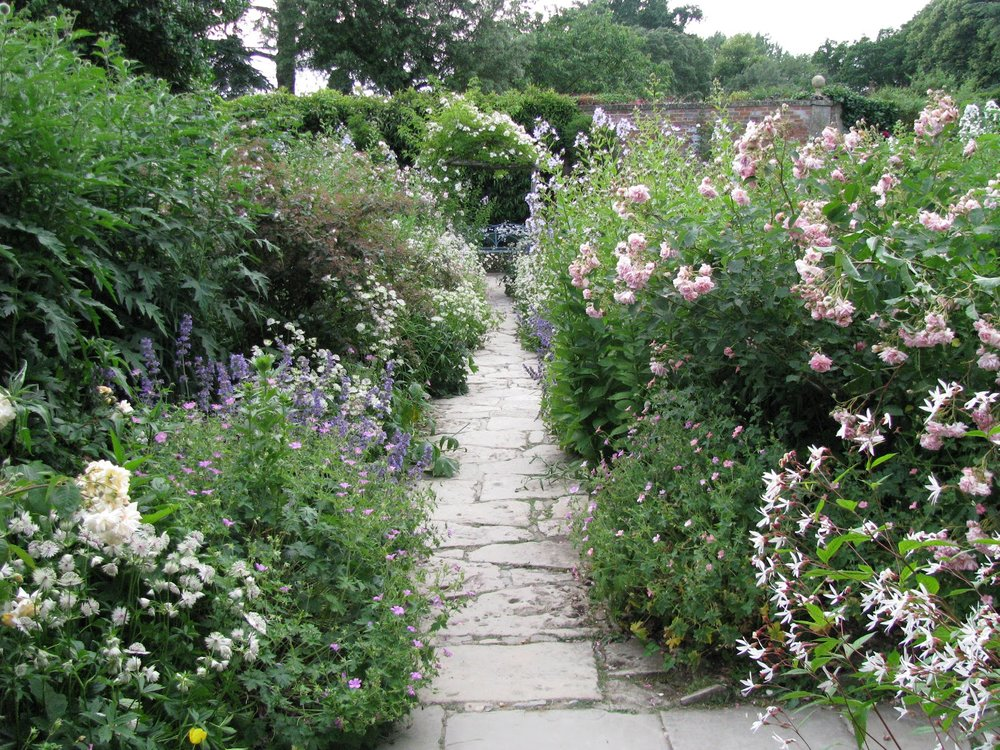 Flagstone path in a garden
