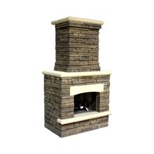 """Fireplace 2'7""""D x 4'3""""W x 7'8""""H"""