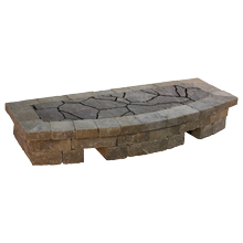 "Arched Hearth 2'D X 5'W X 11""H"
