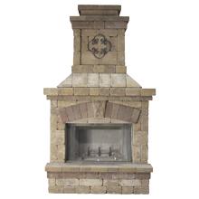 """Fireplace 3'4""""D x 4'4""""W x 8'4""""H"""