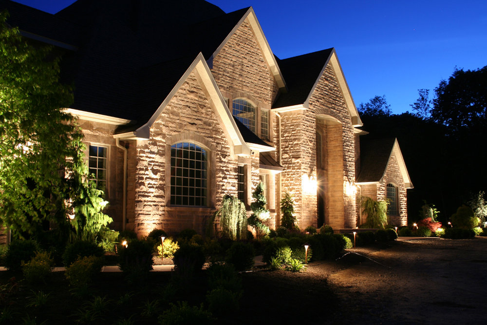 Outdoor Lighting - Illuminate your home! Not only will this turn heads and make your home shine, but it is also a good security measure!
