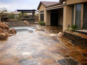 Well Sealing Penetrates Deep Into The Concrete Paver And Natural Stone  Pores, Thus Reducing The Oil And Dirt Penetration, As Well As Protecting  Them From ...