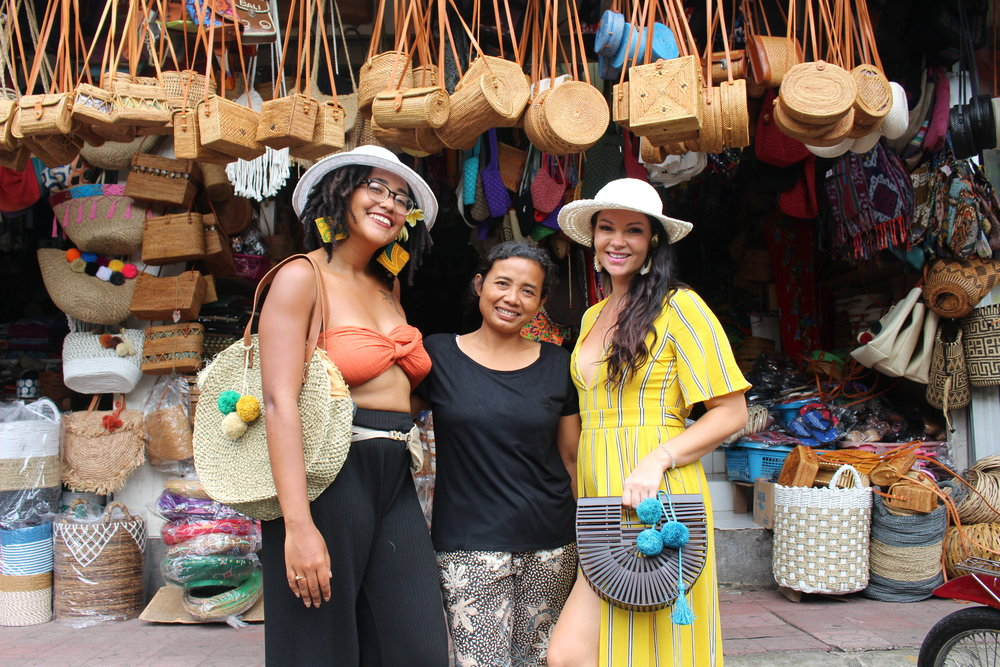 Flo, her friend and business partner Katie and Ibu Agung, the first business owner that  Api Marché  will support