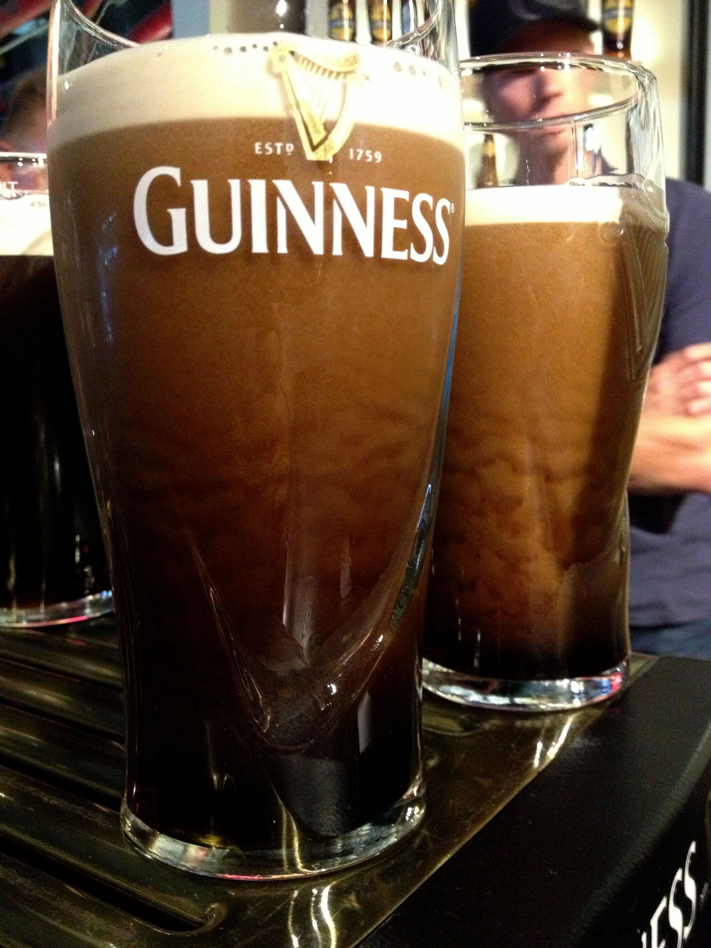 Pouring my own pint at the Guinness Factory in Dublin.