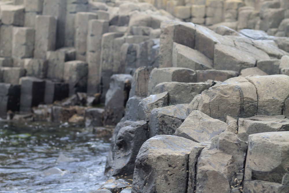 The pillars that comprise Giant's Causeway.