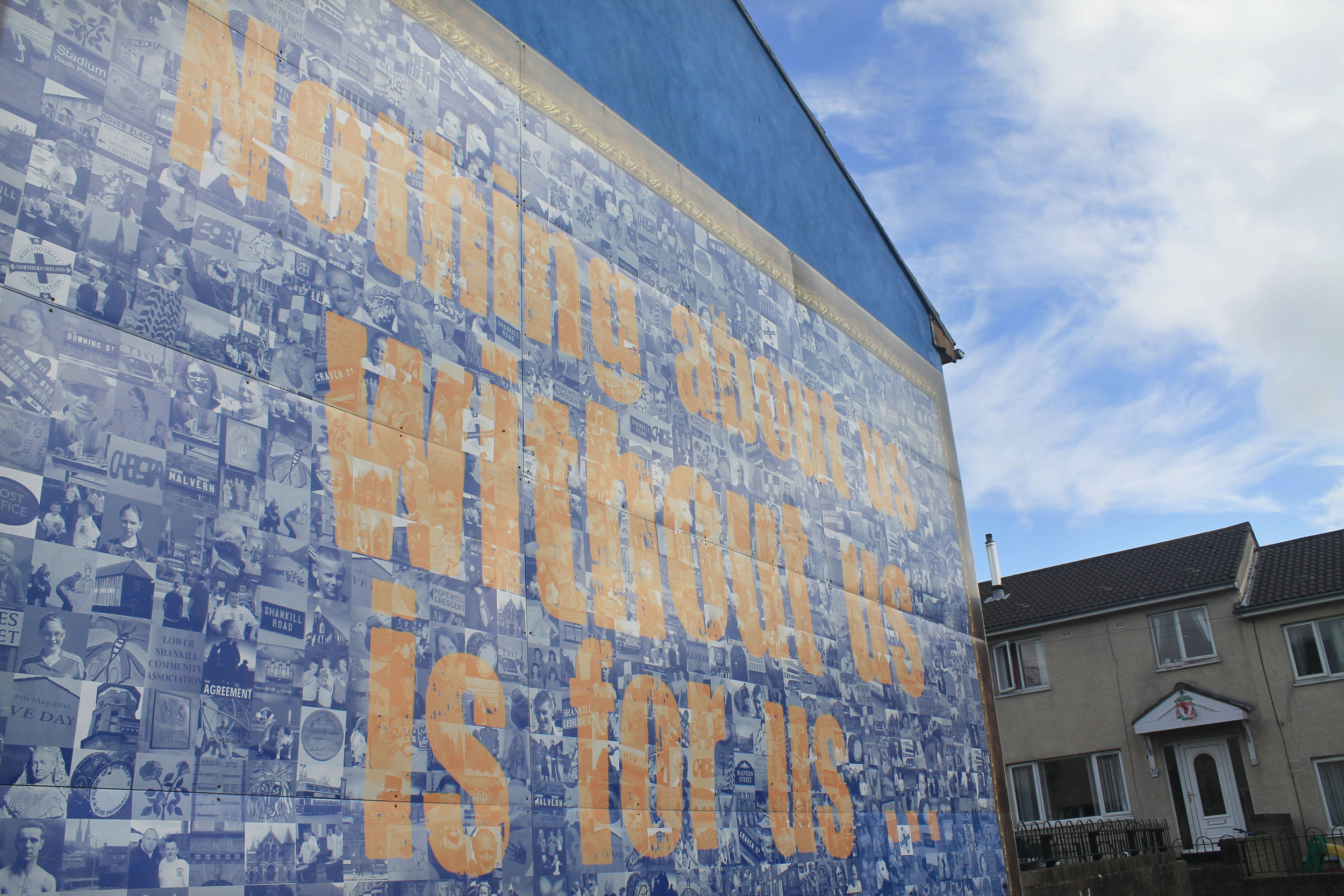 A mural in the Protestant district in Belfast. Catholics don't enter this part of town.