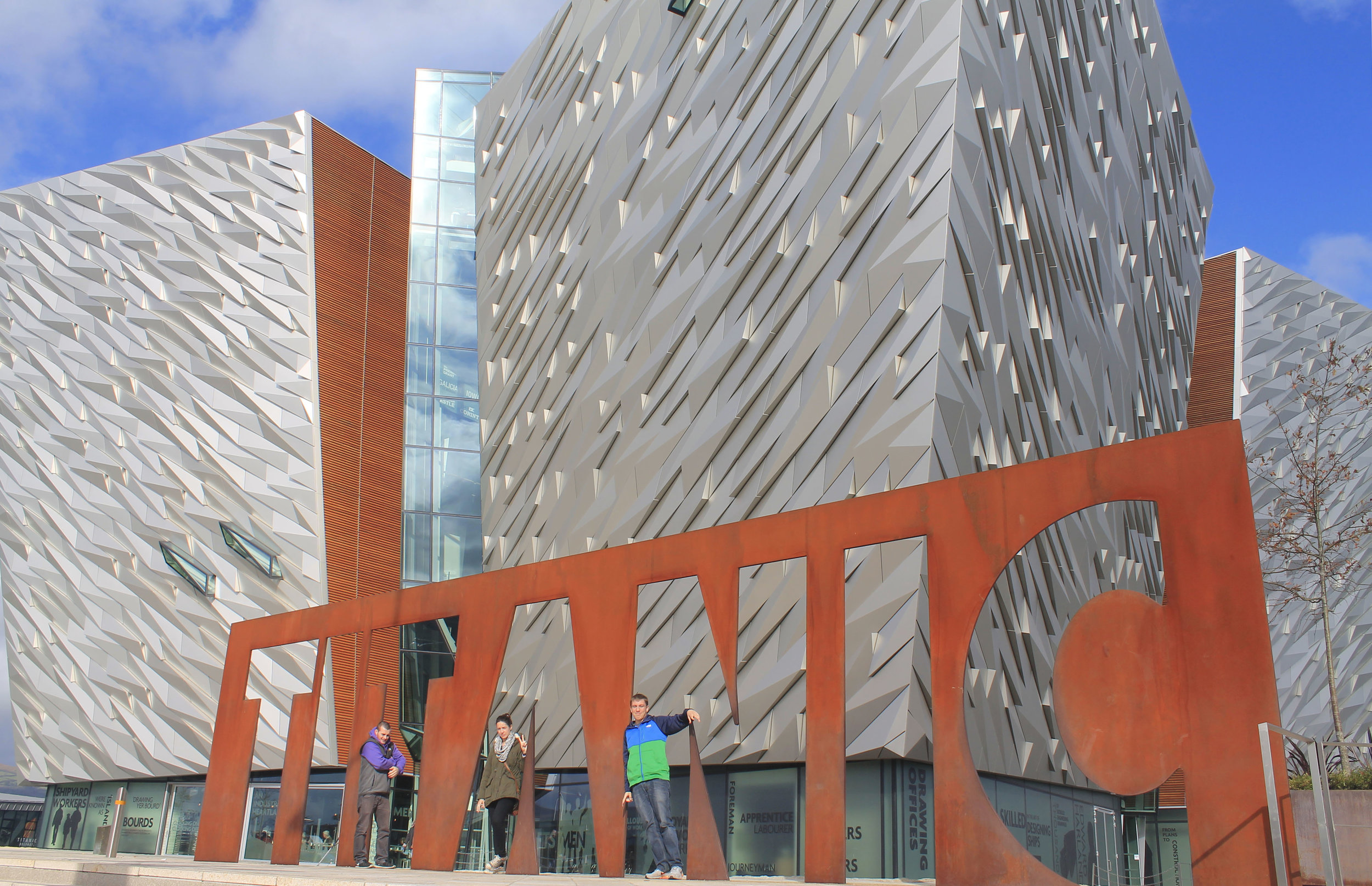 The Titanic Belfast museum, opened in 2012, is modeled to look like a giant iceberg.