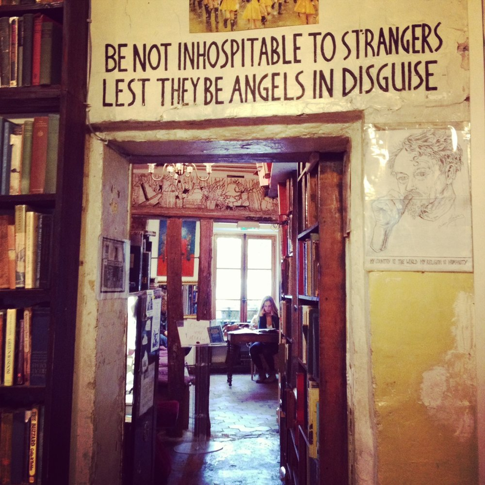 The famous Shakespeare and Company bookshop.