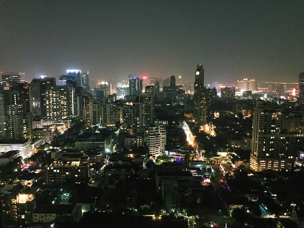 Skybars offer fantastic views of the city at night, and an escape from the hectic nightlife below.
