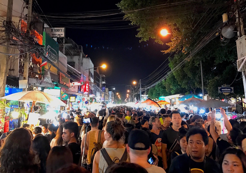 The night markets are huge in Chiang Mai. This one on Sunday night was particularly crowded.