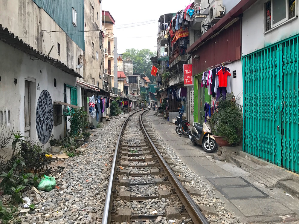 Hanoi's train street is hidden in the Old Quarter.