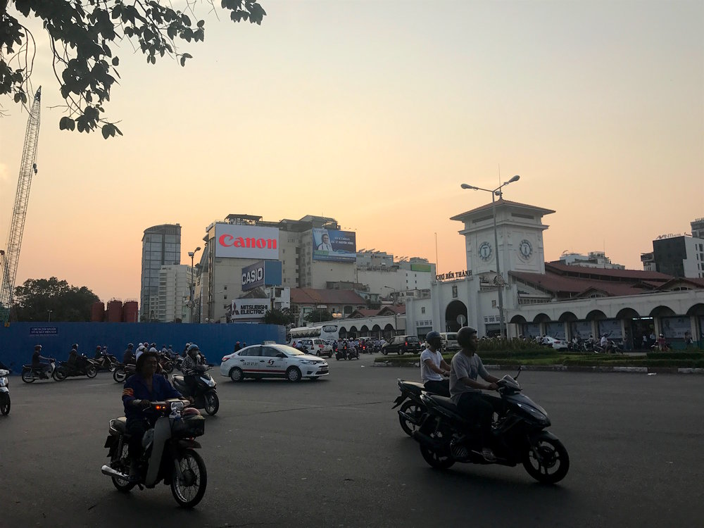 Ben Thanh Market is one of the biggest and busiest in the city. You can find everything from food to souvenir T-shirts there.