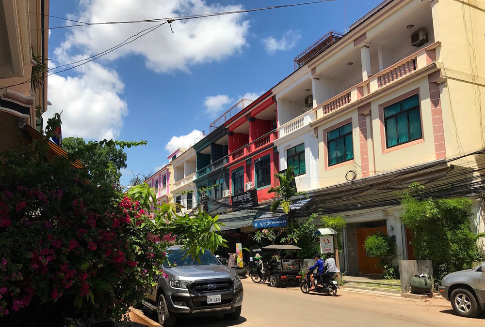Siem Reap's old French quarter is turning into a must-visit destination called Kandal Village. Local boutiques, coffee shops, and restaurants span the lively street. My faves included Little Red Fox, Trunkh, and Vibe Cafe.