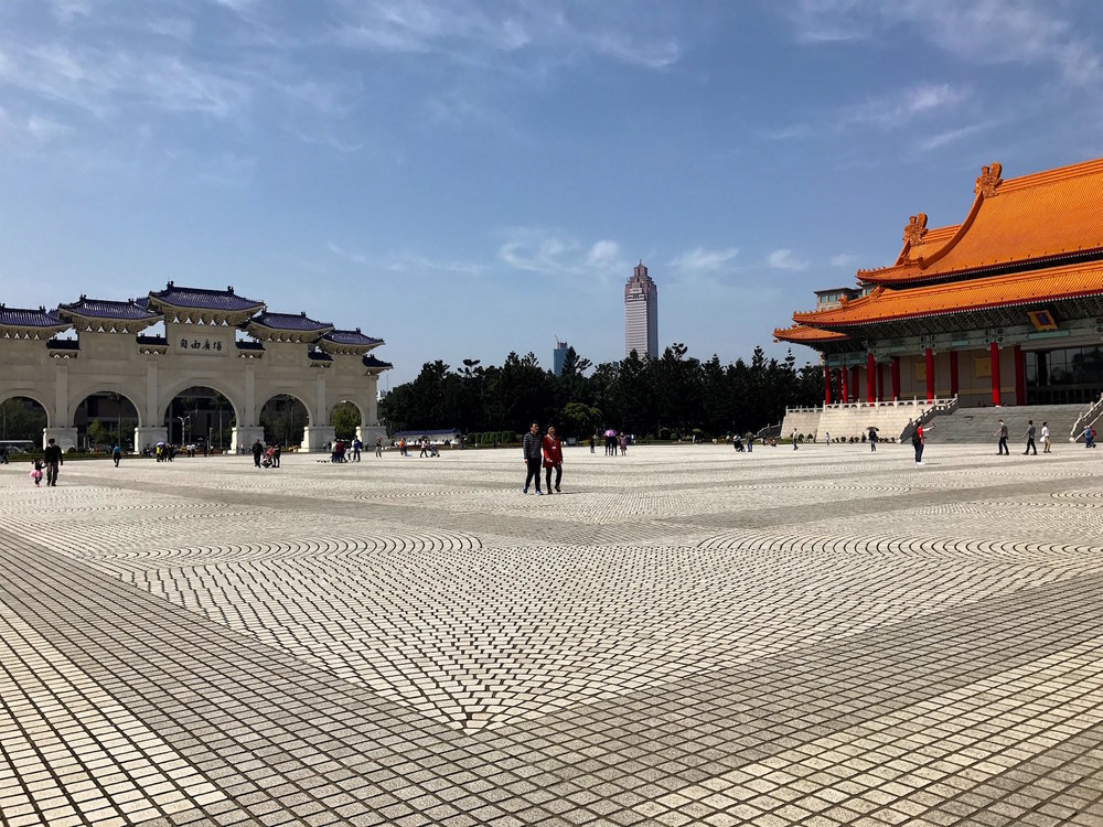 The Chiang Kai-shek Memorial Hall honors the late Chinese political and military leader.