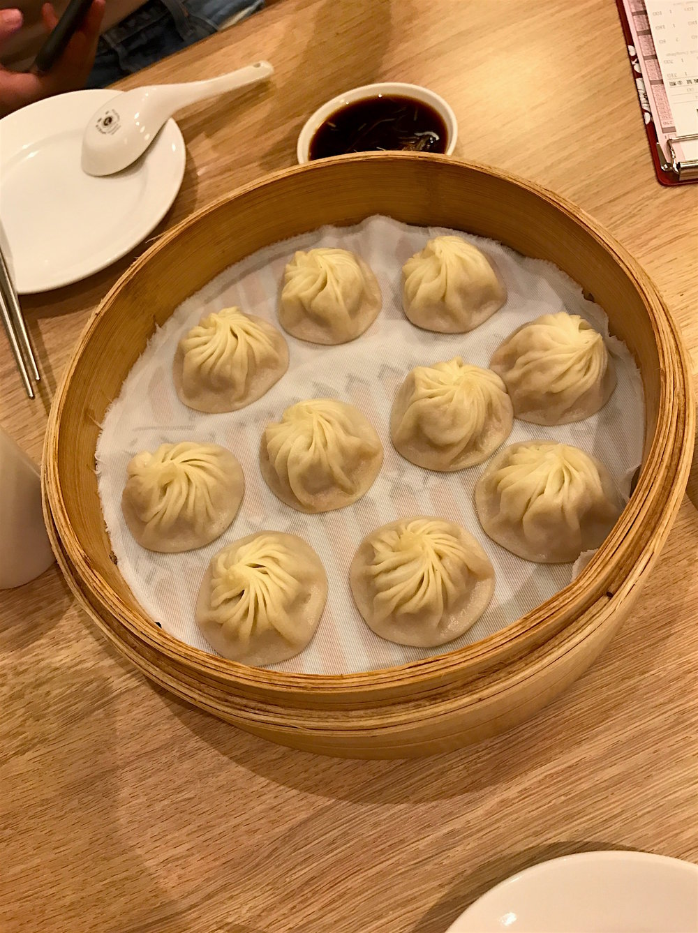 The legendary soup dumplings at the popular Taiwanese chain Din Tai Fung