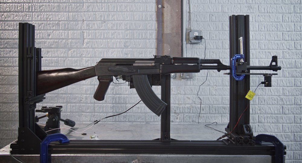 AK-47 used during ballistic testing, 2015