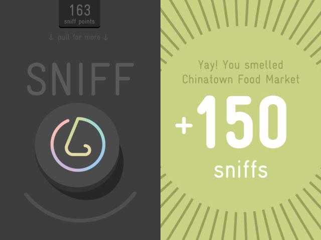 Screen grabs from the custom  SmellScape  app, 2012.(design © Novamondo)