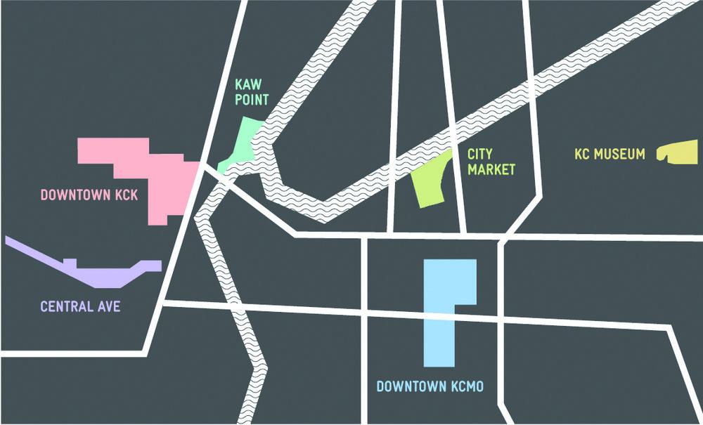 Neighborhood Map,  Smellscape KCK/KCMO , 2012.(design © Novamondo)