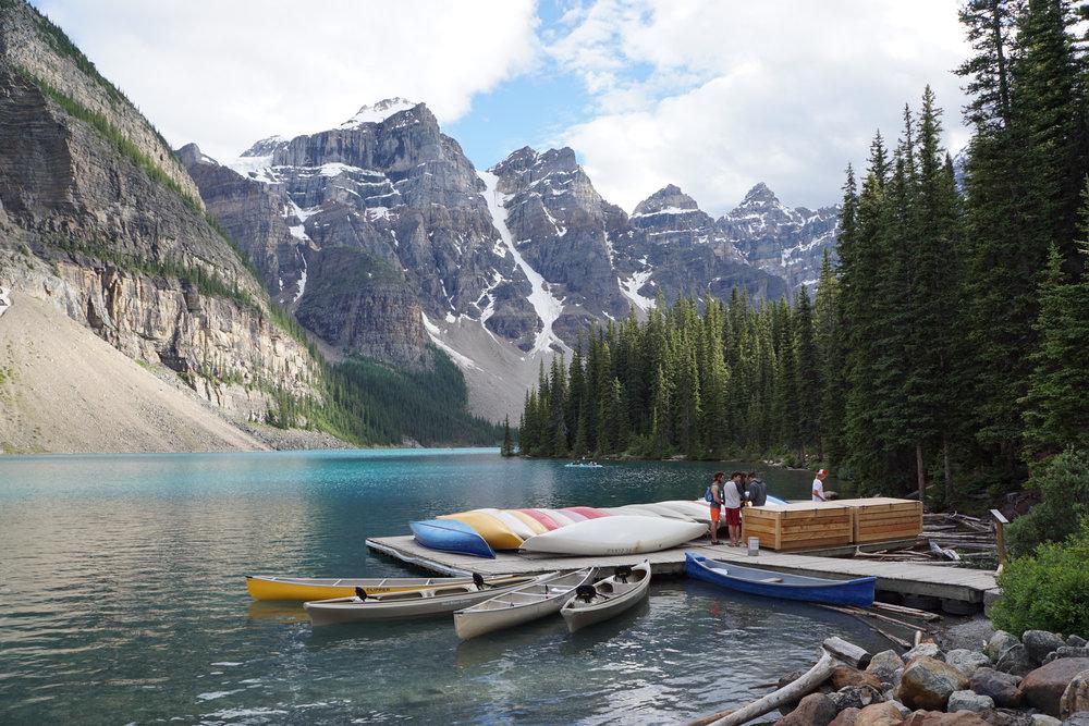 Lake Moraine, Banff National Park.