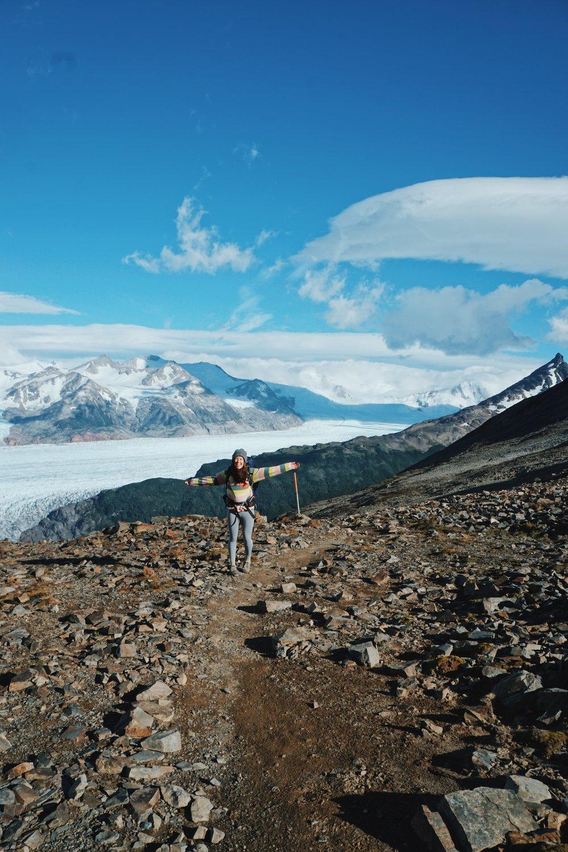 John Gardner Pass, overlooking Grey Glacier.