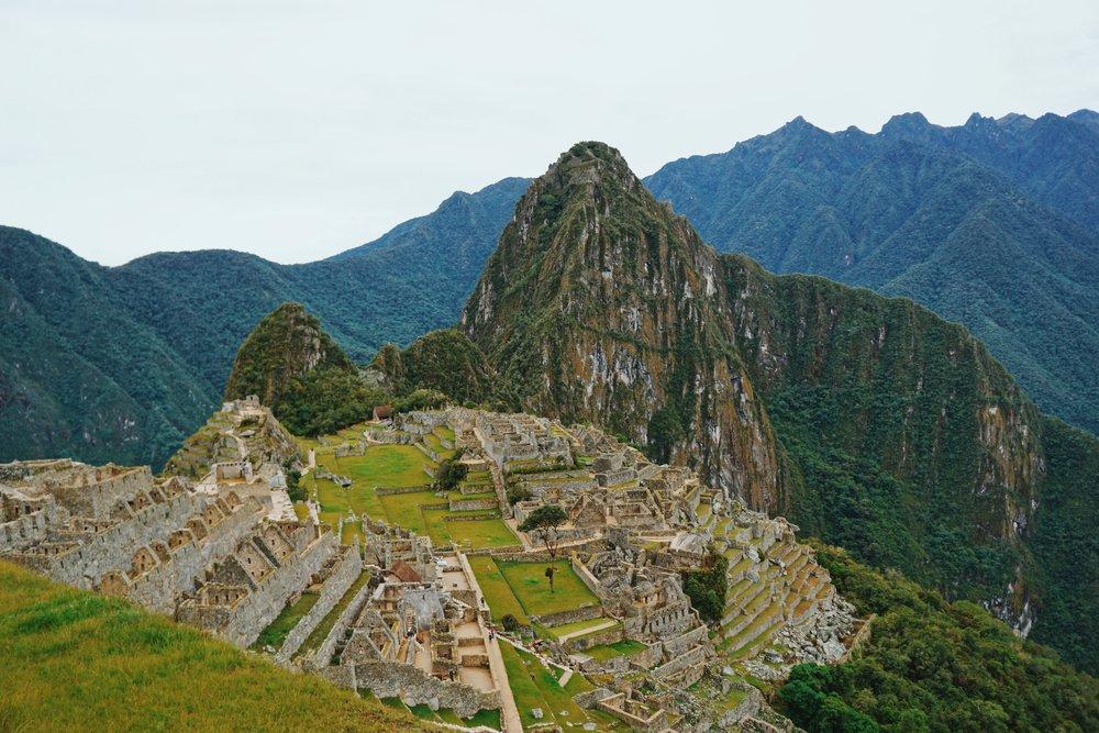 Machu Picchu, Peru: Relatively few tourists since we went in low season!