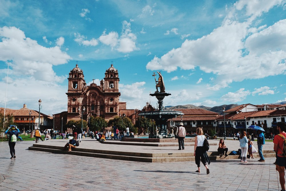 Cusco's central square: Plaza de Armas.