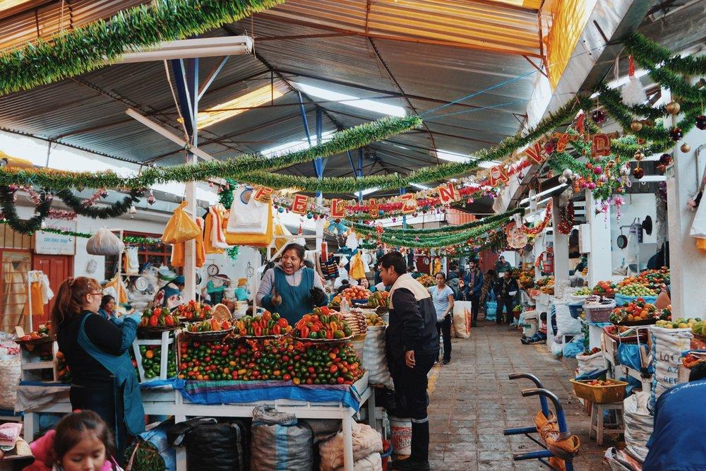 Christmas time in Mercado Central.