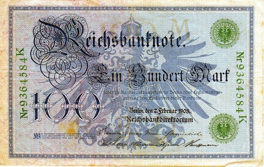 1908 German 100 Marks