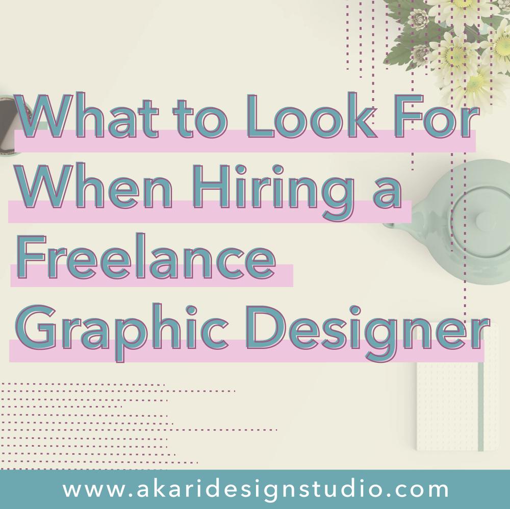Hiring a Freelance Graphic Designer