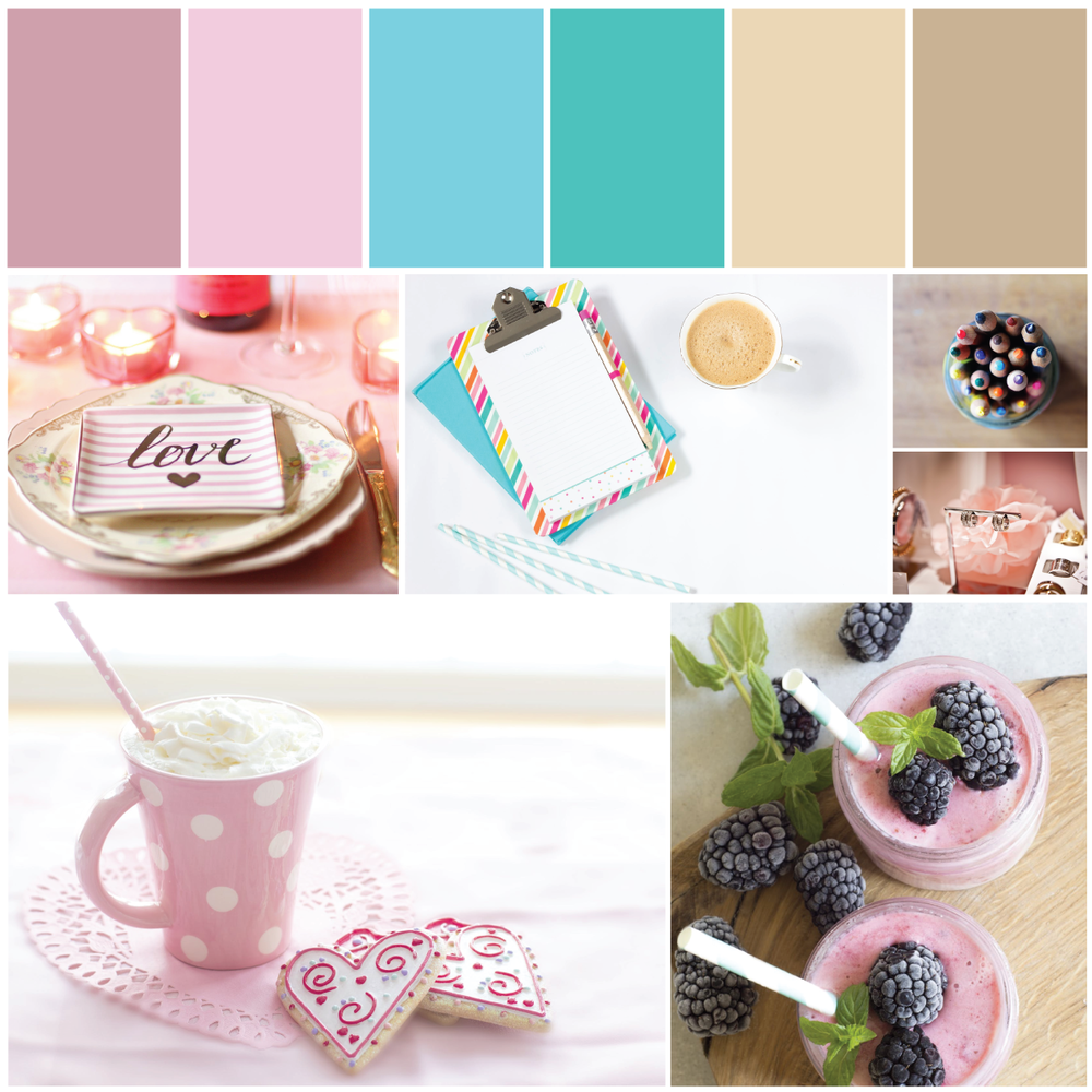 Pink Mint Teal Brand Identity