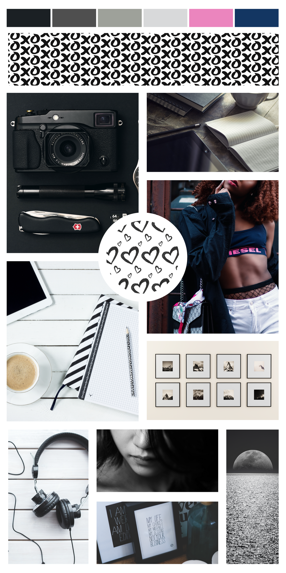 Mood board inspiration for my business. Branding inspiration for my business. Brand build. Building a brand. Hire graphic designer for branding.