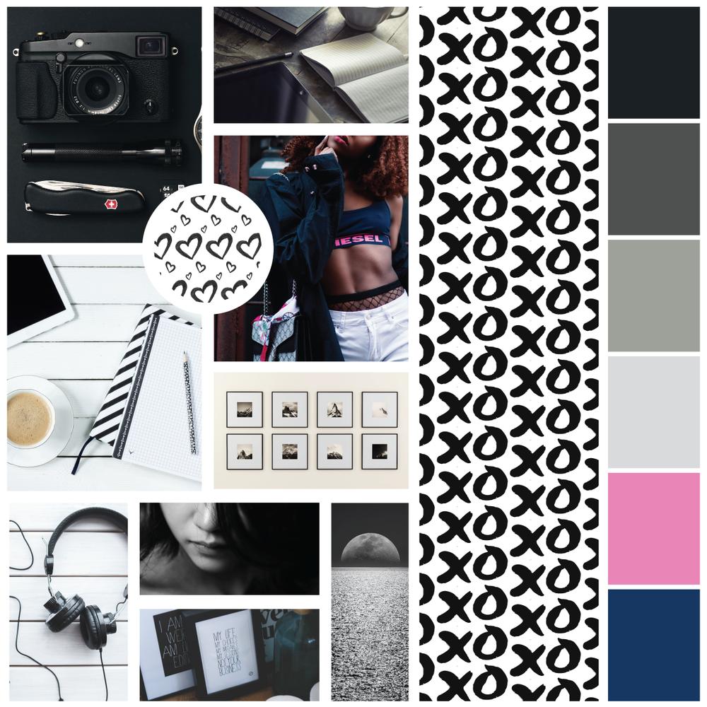 Instagram mood board. Instagram style guide for my business. Pinterest branding for my business. Social media branding for my blog. Social media template designer.