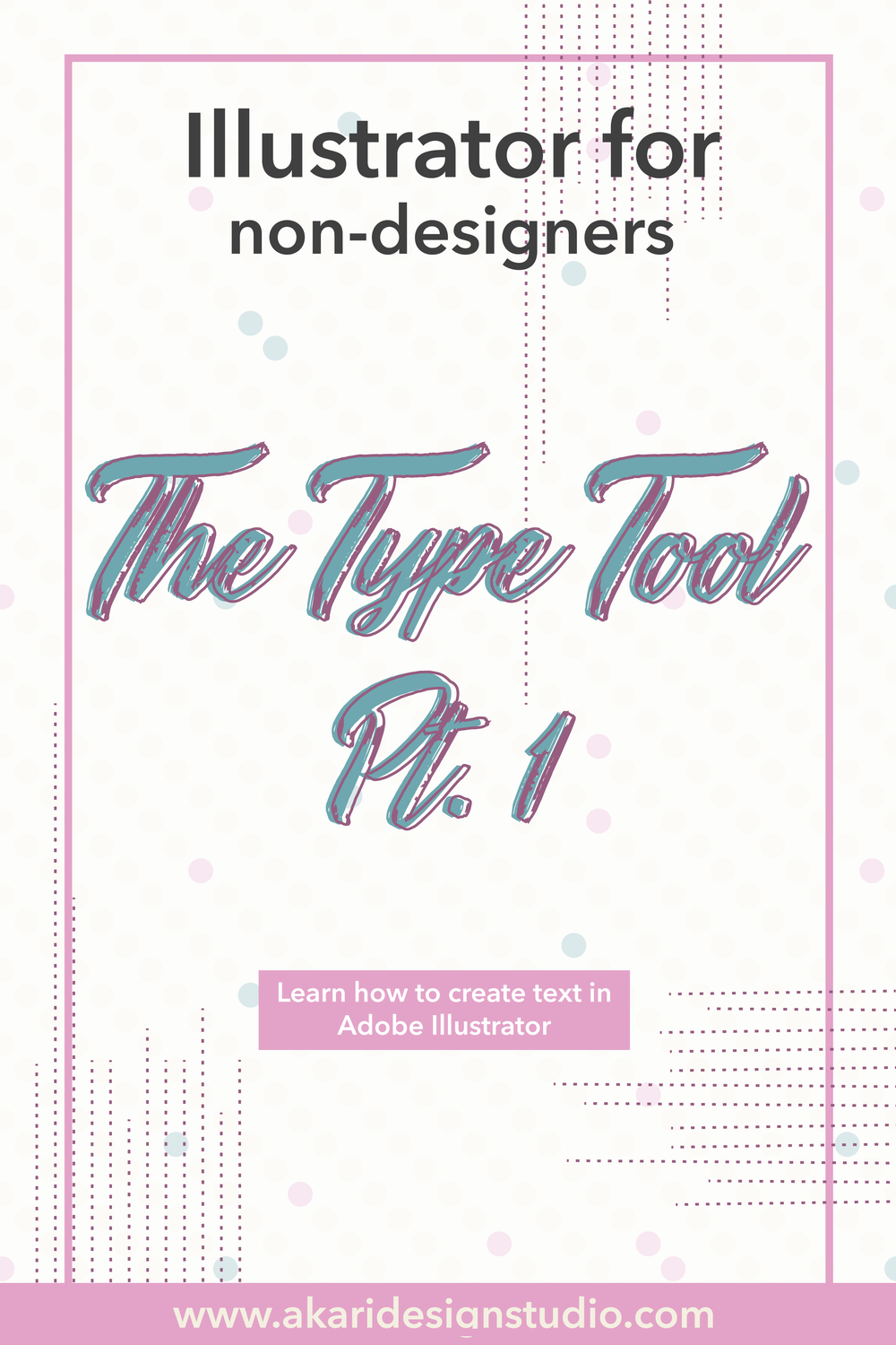 Create text in adobe illustrator. how to use the type tool in illustrator. adobe illustrator for beginners.