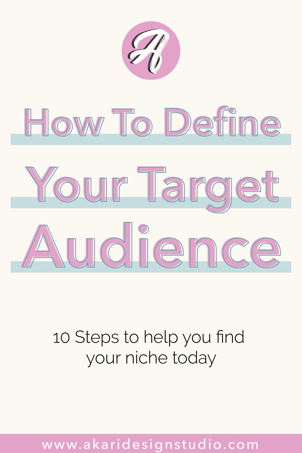 Find a niche for your blog. Define your target market for your business.