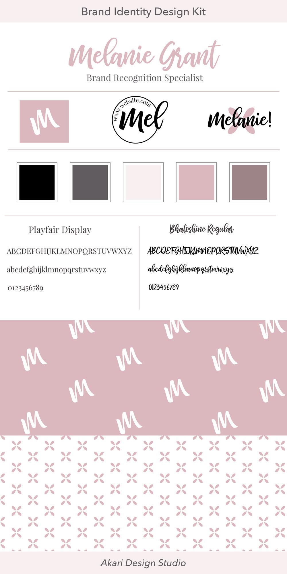 Fempreneur brand design. Brand identity for solopreneur. Female blogger brand design.