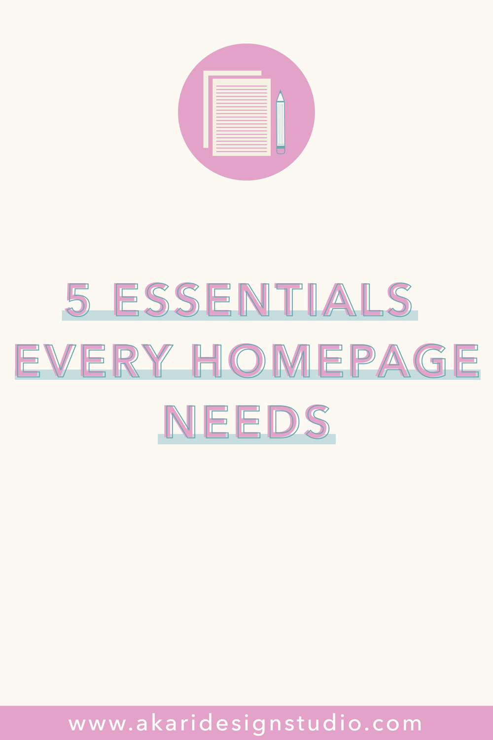 Essential elements of a website homepage. How to create a good homepage.