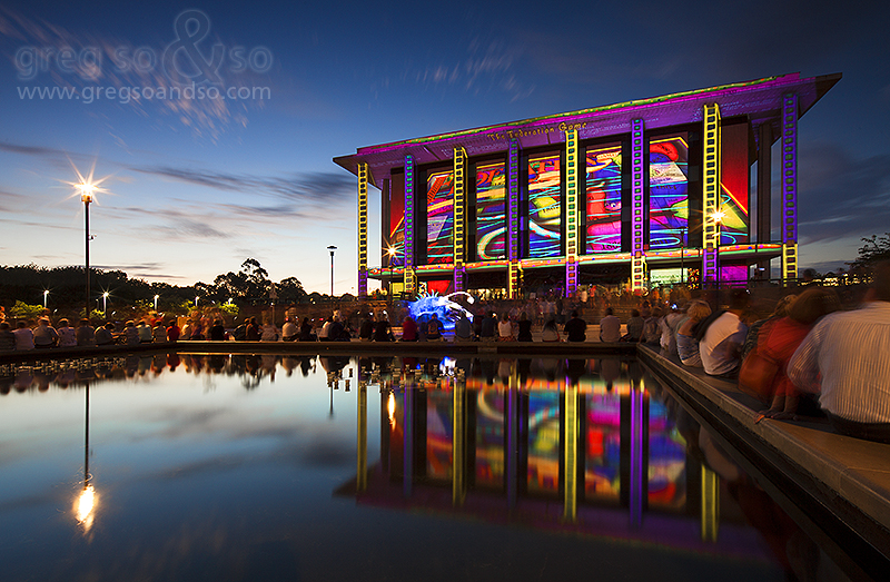 Enlighten Festival 2013, Canberra - NLA 1