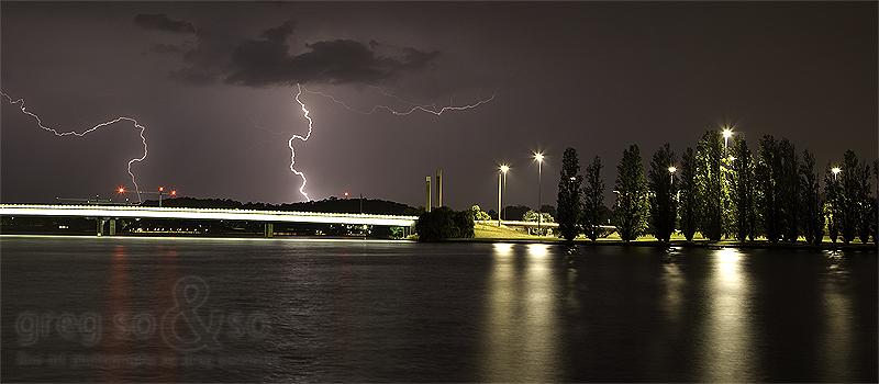 Commonwealth Bridge Backlit