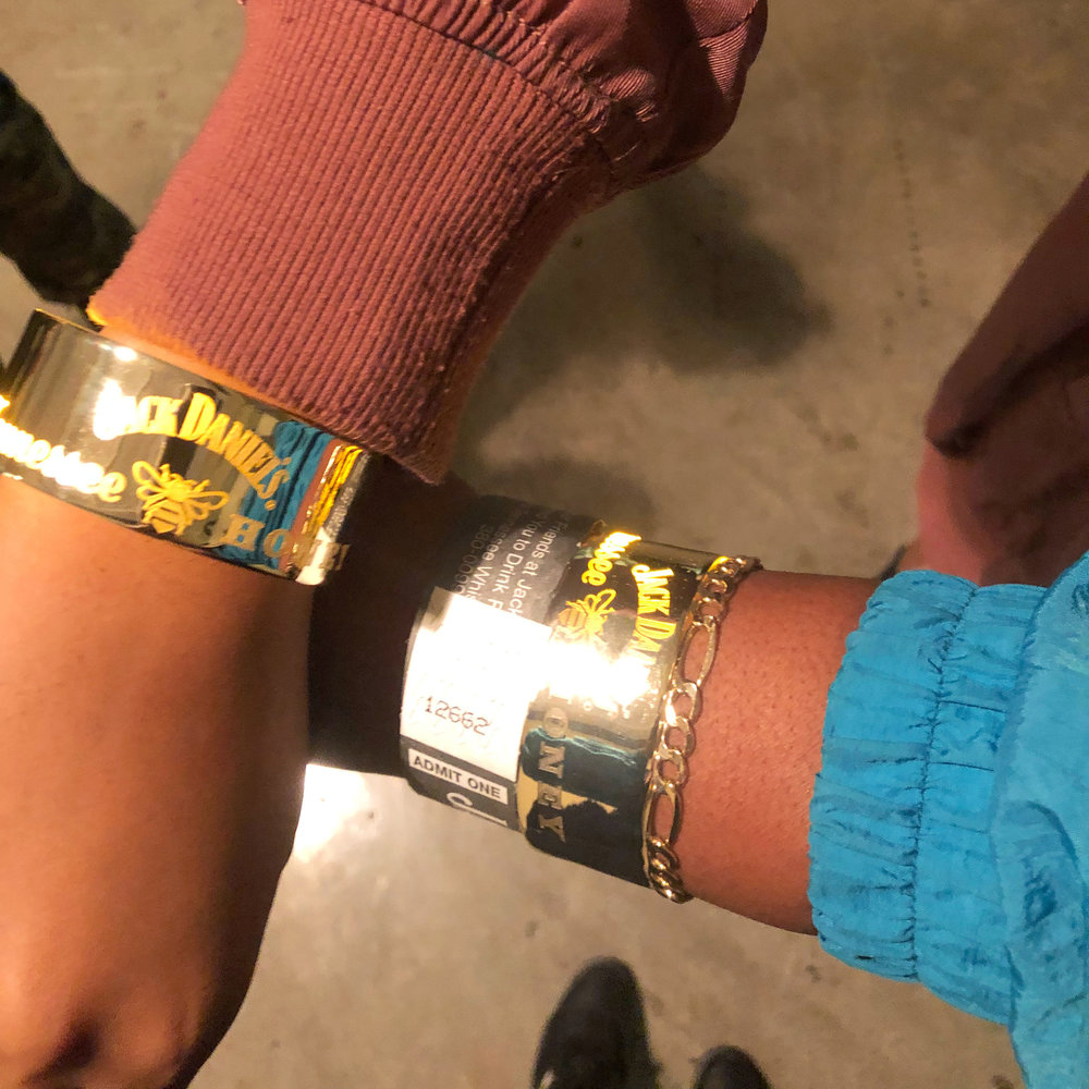 At AB +L we received some cool wristbands that glowed. I think mine is still glowing til this day.