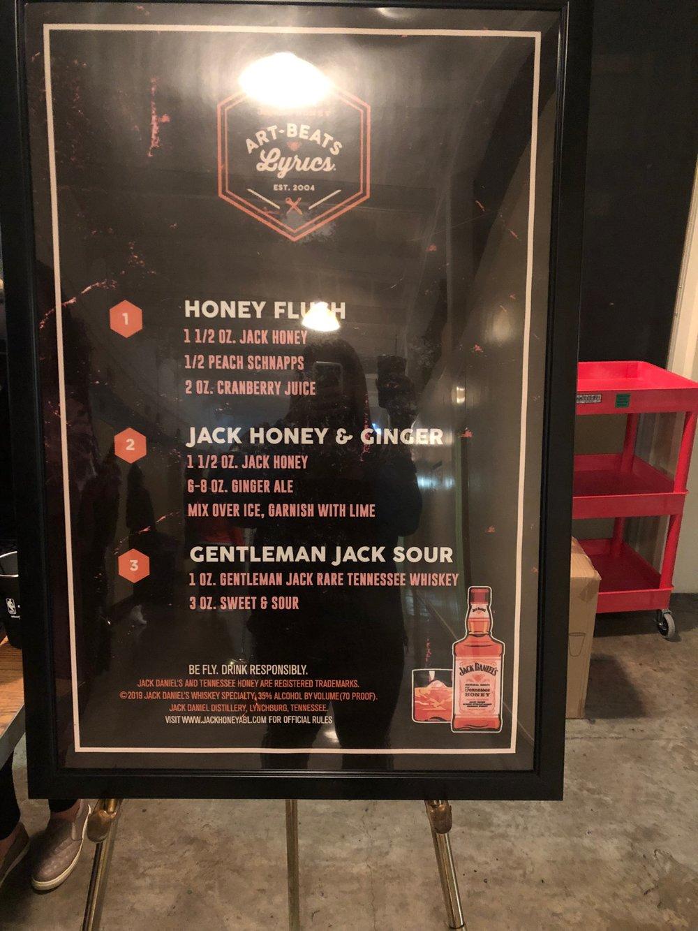 The drink menu at AB + L