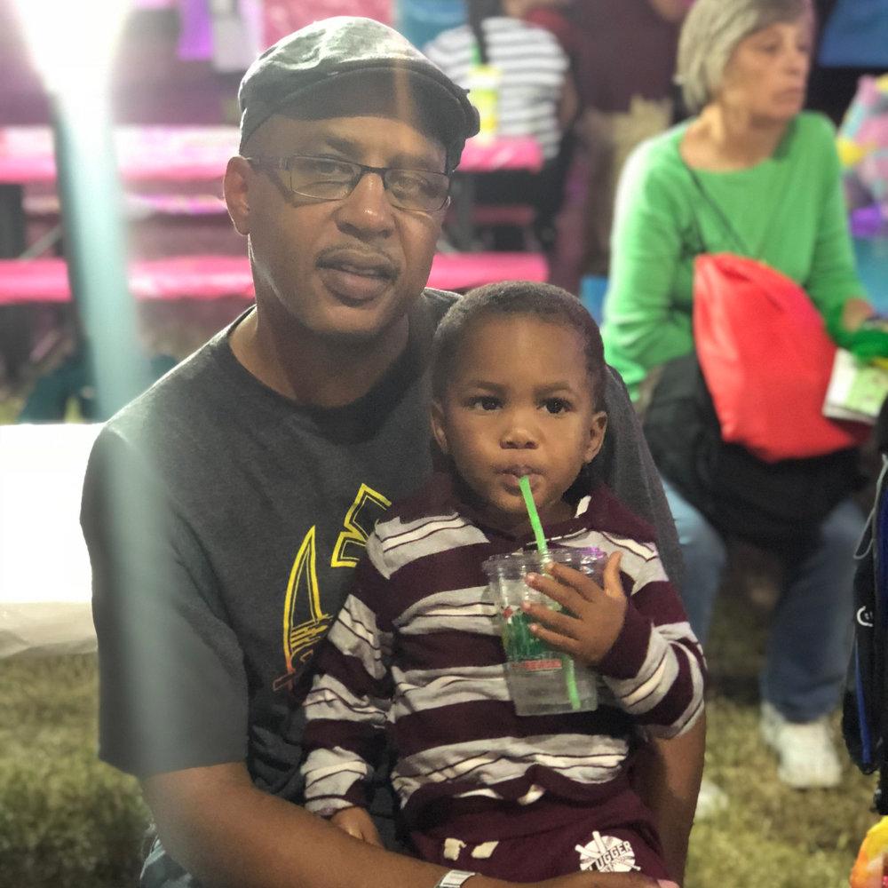 Quinn and Pop Pop at the State Fair